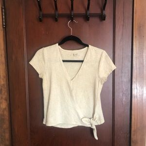 Cream colored Madewell blouse.